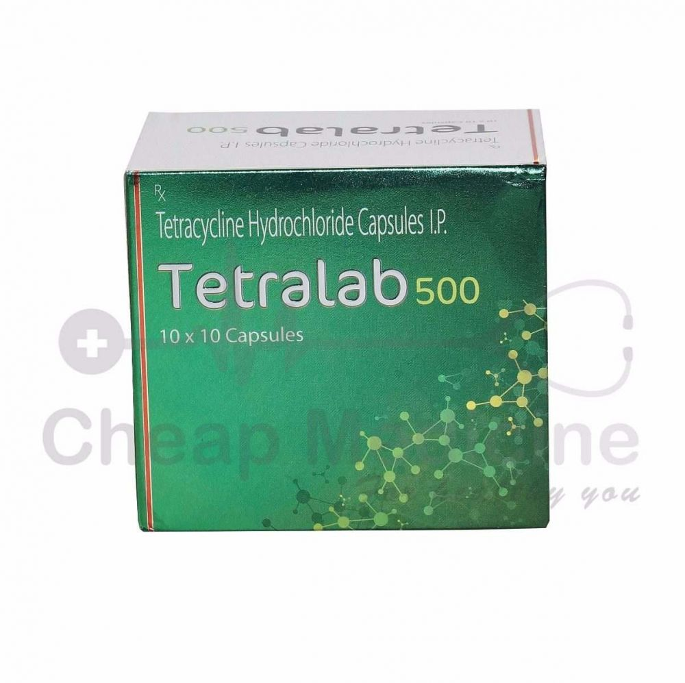 Tetralab 500Mg, Tetracycline Hydrochloride Front View